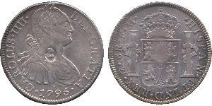 1 Dollar / 8 Real 大不列颠及爱尔兰联合王国 (1801 - 1922) / 新西班牙總督轄區 (1535 - 1821) 銀 卡洛斯四世 (1748-1819) / 喬治三世 (1738-1820)