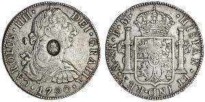 1 Dollar / 8 Real United Kingdom of Great Britain and Ireland (1801-1922) / Spanish Mexico  / Kingdom of New Spain (1519 - 1821) Silver George III (1738-1820) / Charles IV of Spain (1748-1819)
