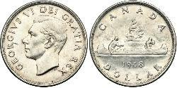 1 Dollaro Canada Argento Giorgio VI (1895-1952)