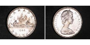 1 Dollaro Canada Argento Elisabetta II (1926-)