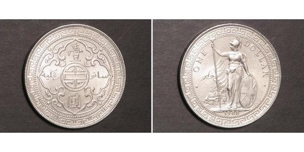 1 Dollaro Hong Kong / Impero britannico (1497 - 1949) Argento