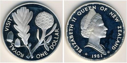1 Dollaro Nuova Zelanda Argento Elisabetta II (1926-)