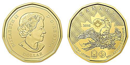 1 Dollaro Canada Ottone Elisabetta II (1926-)
