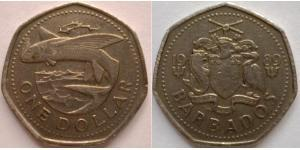 1 Dollaro Barbados Rame/Nichel