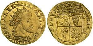 1 Doppia Italian city-states Золото Филипп II (король Испании) (1527-1598)