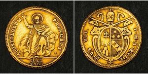 1 Doppia États pontificaux (752-1870) Or Pie VI ( 1717-1799)
