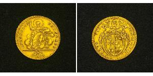1 Doppia Estados Pontificios (752-1870) Oro Pío VI ( 1717-1799)