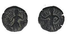 1 Drachm Impero Kusana (60-375) Rame Kanishka I (?-151)