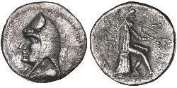 1 Drachm Partherreich (247 BC – 224 AD) Silber Mithridates I. (Parthien) (165-132 BC)