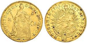 1 Ducat 匈牙利 金 玛丽亚·特蕾西亚 (1717 - 1780)