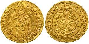 1 Ducat 哈布斯堡君主國 金 利奥波德一世 (神圣罗马帝国)(1640-1705)
