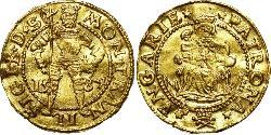 1 Ducat 外西凡尼亞公國 (鄂圖曼帝國) (1570 - 1711) 金 Sigismund Báthory,  prince of Transylvania (1572 -1613)