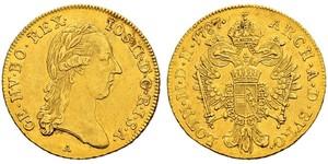 1 Ducat 奧地利帝國 (1804 - 1867) 金 约瑟夫二世 (神圣罗马帝国) (1741 - 1790)