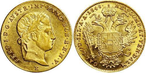 1 Ducat 奧地利帝國 (1804 - 1867) 金 Ferdinand I of Austria (1793 - 1875)