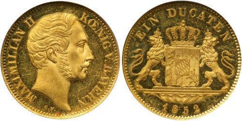 1 Ducat 巴伐利亞王國 (1806 - 1918) 金 马克西米利安二世 (巴伐利亚国王)