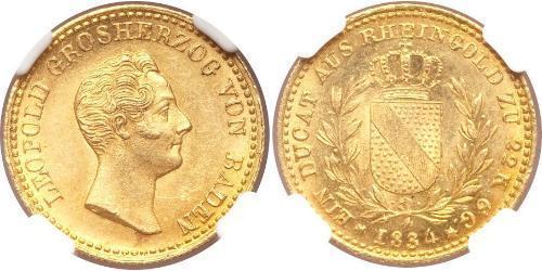 1 Ducat 巴登大公國 (1806 - 1918) 金 利奥波德 (巴登)