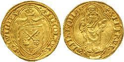 1 Ducat 教皇国 (754 - 1870) 金 Pope Nicholas V (1397-1455)