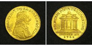 1 Ducat Salzburg 金 Count Hieronymus von Colloredo (1732 - 1812)