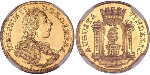 1 Ducat Augsburg (1276 - 1803) Gold Joseph II, Holy Roman Emperor  (1741 - 1790)
