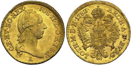 1 Ducat Austrian Empire (1804-1867) Gold Joseph II, Holy Roman Emperor  (1741 - 1790)