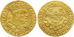 1 Ducat Danzig (1454-1793) Gold Stephen Báthory (1533-1586)