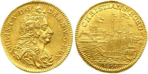 1 Ducat Denmark-Norway (1536-1814) Gold Christian V of Denmark (1646 -1699)
