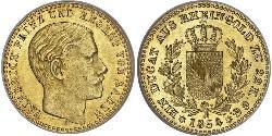 1 Ducat Grand Duchy of Baden (1806-1918) Gold Frederick I, Grand Duke of Baden (1826 - 1907)