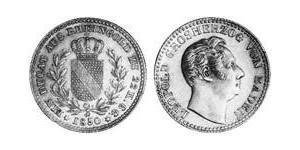 1 Ducat Grand Duchy of Baden (1806-1918) Gold Leopold, Grand Duke of Baden (1790 – 1852)