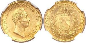 1 Ducat Grand Duchy of Baden (1806-1918) Gold Leopold, Grand Duke of Baden (1790 – 1852)