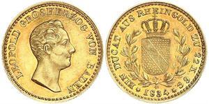 1 Ducat Grand Duchy of Baden (1806-1918) Gold Leopold (Baden)(1790 – 1852)