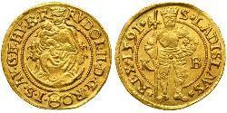 1 Ducat Habsburg Empire (1526-1804) Gold Rudolf II, Holy Roman Emperor (1552 - 1612)