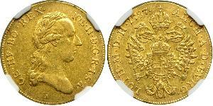 1 Ducat Habsburg Empire (1526-1804) Gold Joseph II, Holy Roman Emperor  (1741 - 1790)