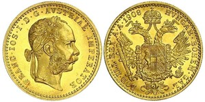 1 Ducat Habsburg Empire (1526-1804) Gold Franz Joseph I (1830 - 1916)