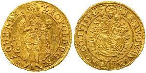 1 Ducat Habsburg Empire (1526-1804) Gold Leopold I, Holy Roman Emperor (1640-1705)