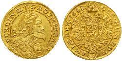 1 Ducat Heiliges Römisches Reich (962-1806) Gold Ferdinand III, Holy Roman Emperor (1608-1657)