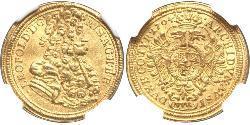 1 Ducat Holy Roman Empire (962-1806) Gold Leopold I, Holy Roman Emperor (1640-1705)