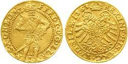 1 Ducat Holy Roman Empire (962-1806) / Austria  Gold Ferdinand I, Holy Roman Emperor(1503-1564)