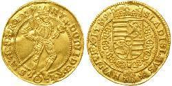 1 Ducat Holy Roman Empire (962-1806) / Austria  Gold Rudolf II, Holy Roman Emperor (1552 - 1612)