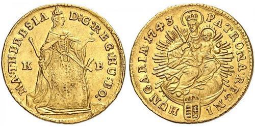 1 Ducat Hungary Gold Maria Theresa of Austria (1717 - 1780)