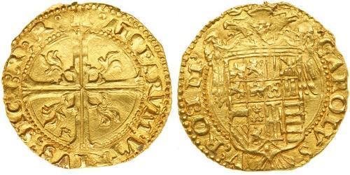 1 Ducat Italy Gold Charles V, Holy Roman Emperor (1500-1558)