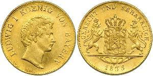 1 Ducat Königreich Bayern (1806 - 1918) Gold Ludwig I. (Bayern)(1786 – 1868)