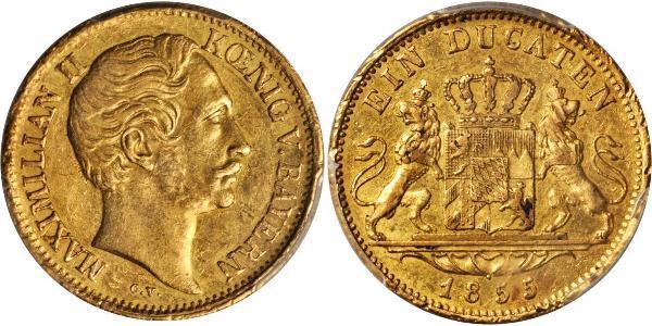 1 Ducat Königreich Bayern (1806 - 1918) Gold Maximilian II. Joseph (Bayern)(1811 - 1864)