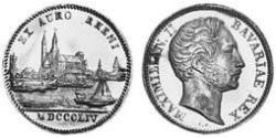 1 Ducat Kingdom of Bavaria (1806 - 1918) Gold Maximilian II of Bavaria (1811 - 1864)