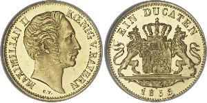 1 Ducat Kingdom of Bavaria (1806 - 1918) Gold Maximilian II of Bavaria (1811 - 1864)