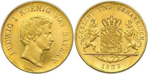 1 Ducat Kingdom of Bavaria (1806 - 1918) Gold Ludwig I of Bavaria (1786 – 1868)