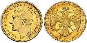 1 Ducat Kingdom of Yugoslavia (1918-1943) Gold Alexander I of Yugoslavia (1888 - 1934)