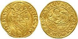 1 Ducat Papal States (752-1870) Gold Pope Innocent VIII (1432 -1492)
