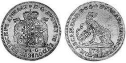 1 Ducat Principality of Anhalt-Köthen (1603 -1853) Gold Augustus Louis, Prince of Anhalt-Köthen (1697 – 1755)