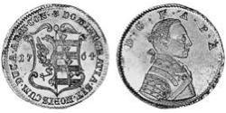 1 Ducat Principality of Anhalt-Zerbst (1544 - 1796) Gold Frederick Augustus, Prince of Anhalt-Zerbst (1734 – 1793)