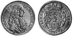 1 Ducat Principality of Ansbach (1398–1792) Gold John Frederick, Margrave of Brandenburg-Ansbach (1654 – 1686)